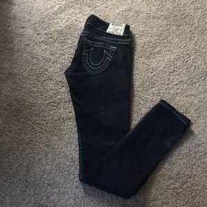 Dark wash True Religion Skinny Jeans